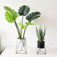 Metal Plant Pot Stand Indoor Garden Decor Flower Planter Display Holder Shelf