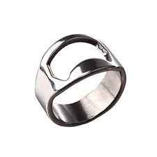 Silver stainless steel Finger Ring Beer Bottle cap Opener,Bottle Opener Ring HY