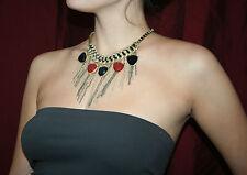 "EXTRA LARGE necklace costume jewellery UNUSUAL chain pendant 17"" BNWT multi"