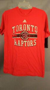 Adidas NBA Toronto Raptors Red Graphic print T-Shirt Youth Size 14/16 Large