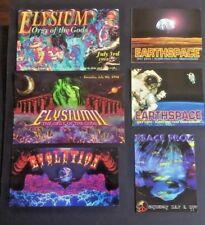 Vintage RAVE Flyers ELYSIUM, EARTHSPACE, EVOLUTION, PEACE FROG (LOT 139)