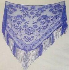 Lavender Lace Shawl Wrap Victorian Style Fringe Wedding Prom Free Shipping