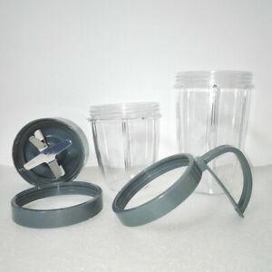 Cross Extractor Blade Replacement Accessory Cups Lid Set FOR Nutribullet Blender