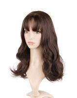 OUJF10522 long style women Wig  sexy wavy dark brown health curly hair wigs