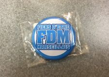 BADGE OFFICIEL BROCHE FOOT FOOTBALL SUPPORTERS CLUB LIGUE 1 OM MARSEILLE N°2