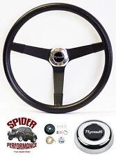 """1961-1966 Fury Valiant Belvedere steering wheel PLYMOUTH 14 3/4"""" VINTAGE BLACK"""