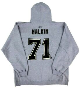 Evgeni Malkin Penguins Reebok NHL Gray Name & Number Sweatshirt