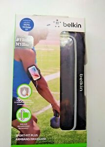 Belkin Sport Fit Plus Armband for Samsung Galaxy S5/ S6/S Edge /S7 -Black New