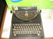 Working Vintage Remington Rand Portable Model 5 Manual Typewriter Red Key & Case