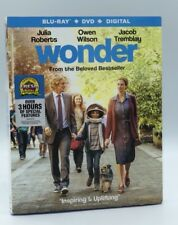 Wonder (Blu-ray+DVD+Digital, 2018; 2-Disc Set) NEW w/ Slipcover