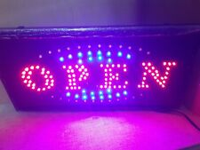 Open Flashing Motion Led Business ( Open )Sign +On/Off Switch Light Neon