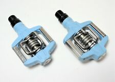 CRANK BROTHERS LT BLUE CANDY SL ROAD MTN BICYCLE DUAL CLIPLESS PEDALS 9/16 X 20
