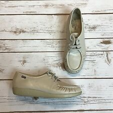 Genuine SAS Handsewn Leather Oxford Lace Up Soft Step Heel Shoe Women's Size 7.5