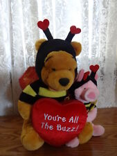 Winnie the Pooh Lg Plush Bee, Bear, Piglet,& Picture/Photo Frame Disney Store