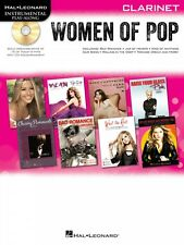 Women of Pop Clarinet Instrumental Play-Along Book and Cd New 000842651