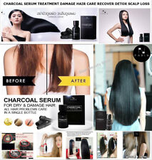 CHARCOAL SERUM DAMAGE HAIR CARE RECOVER DETOX SCALP LOSS HAIR GROWTH TREATMENT