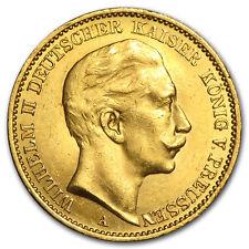 1888-1913 Germany Gold 20 Marks Prussia William II BU (Random) - SKU#45903