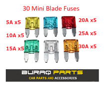30 x Assorted Automotive Mini Blade Fuses Set 5, 10, 15, 20, 25, 30 Amp Car Bike