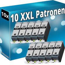 10x TINTE PATRONEN für CANON PIXMA MP540 MP550 MP560 MP620 MP630 MP640 PGI-520