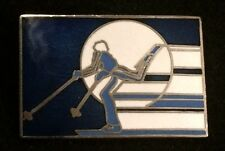 """FREESTYLE SKIER"" Humorous Funny Skiing Ski Pin Snowboard Sports Souvenir Travel"