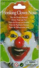 Naz De Clown Musical Red Honking Circus Clown Nose