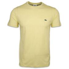 Magliette da uomo gialli Lacoste con girocollo