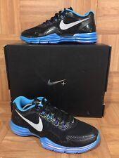 $230🔥 Nike Lunar TR1+ Black Blue Glow Silver Sz 8 Men's 531975-004 Sport Pack
