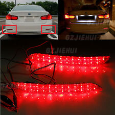 For BMW 3-series 2012-2014 F30 F31 F35 LED Bumper Reflector Red Lens Tail Brake