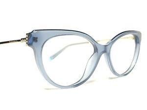 Tiffany & Co. TF2183 8244 Womens Blue & Gold Cats Eye Rx Eyeglasses Frames 52
