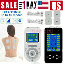 Electrical Muscle Pulse Stimulator Massage Tens Unit Machine Therapy Pain Relief