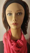 3/4 Wig With Black Headband Dark Auburn #33 Crinkle and Straight Toyokalon Hair