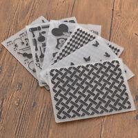 Embossing Folder Prägefolder Eule Karo DIY Bastelm Scrapbooking Deko Craft Hobby