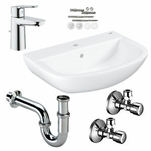 Grohe Waschbecken Waschtisch 60 Baukeramik Waschtischmischer Bauedge Komplettset