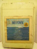 8 Track Tape Lot of 3 VARIOUS The Greatest 64 Motown Original Hits 701A
