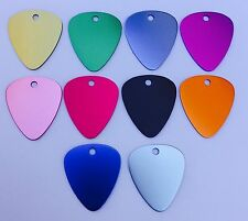 100 Guitar Picks Anodized Aluminum Blank Wholesale Laser Chewbarka