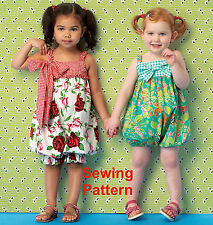 Kwik Sew K174 Ellie Mae Designs Pattern Toddlers Rompers BN OSZ