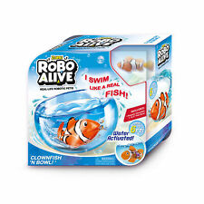 Robo Alive - Robotic Pets Playset (Styles May Vary) Bowl With Fish or Turtle