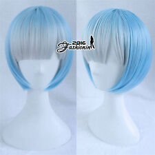 Light Blue Anime Re:Life in a Different World from Zero Rem Cosplay Short Wig