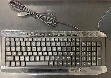 Large Font Lighted Keyboard Print USB LED Backlit Keyboard Blue Energy Saving