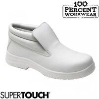 Nurses Medical Kitchen Catering Food Hygiene Slip On Lightweight Safety Boots