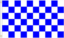 Royal Blue & White Check Polyester Flag - Choice of Sizes