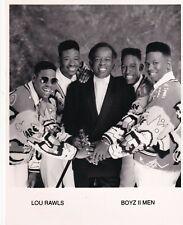 "LOU RAWLS PORTRAIT JAZZ MUSIC BAND ""BOYZ II MEN"" 1990s  ORIG VINTAGE PHOTO 392"