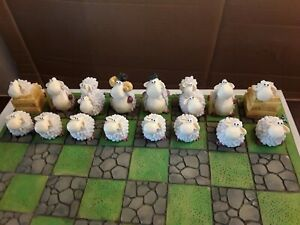 SHAUN THE SHEEP STYLE CHESS SET,  LATEX MOULDS