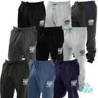 ECKO Mens Tracksuit Bottoms Fleece Pants Black Grey Charcoal Blue Green Navy