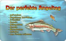 Tabla de desalluno el día pesca perfecto pescador la cortar EXCELENTE impresión