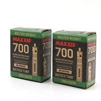 x2 Maxxis Welter Weight 700x18/25C Road Bike 80mm Presta Valve Inner Tube Tire