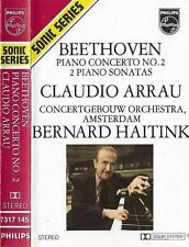 Claudio Arrau Beethoven Piano Concerto No. 2 / 2 Sonatas CASSETTE ALBUM Haitink
