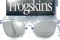NEW* Oakley Frogskins Clear Crystal POLARIZED Mirrored Galaxy Sunglass oo9013 T