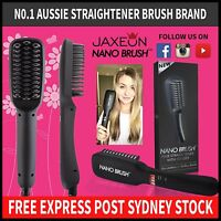 Genuine Nano Brush Hair Straightener Brush Comb LCD Straightening AU PLUG