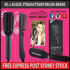 Genuine Nano Brush Hair Straightener Brush Comb LCD Straightening AU PLUG